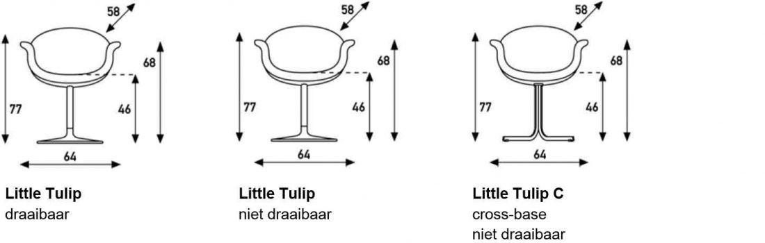 Artifort Litte Tulip afmetingen