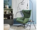 EYYE puuro fauteuil donkergroen woonkamer