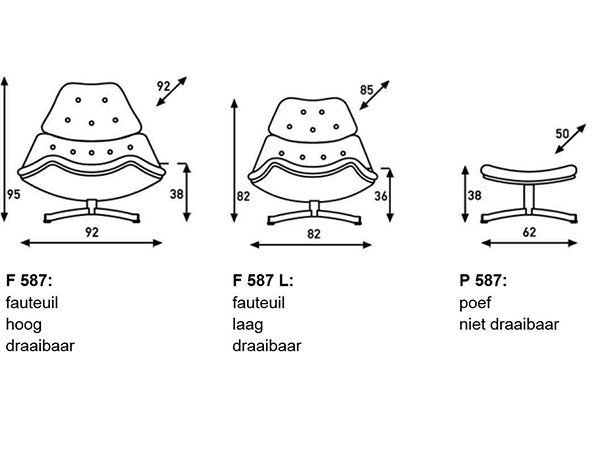 Artifort F587 fauteuil