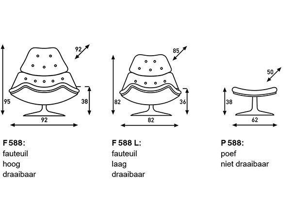Artifort F588 fauteuil