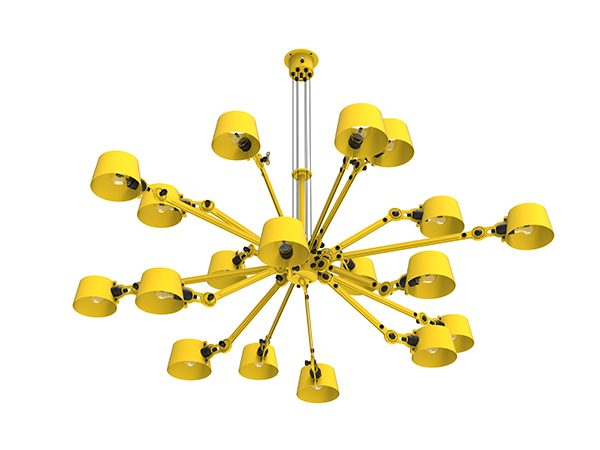 Tonone chandelier 18 yellow