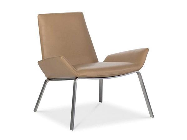 Design on Stock Komio fauteuil - Synergy LDS74 stof RVS onderstel