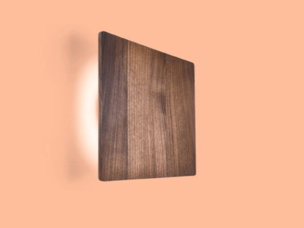 Wever en Ducré Miles wandlamp - Miles LED 3.0 (vierkant), Walnoot