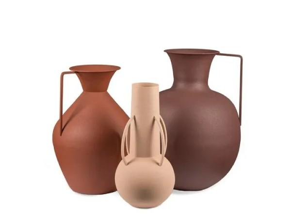 Roman brown vazen set pols potten