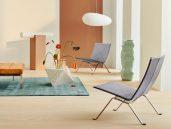Fritz Hansen PK22 fauteuil grijs woonkamer