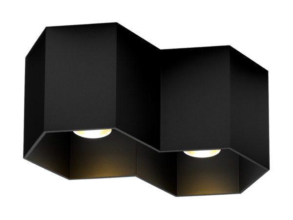 Hexo 2.0 plafondlamp zwart