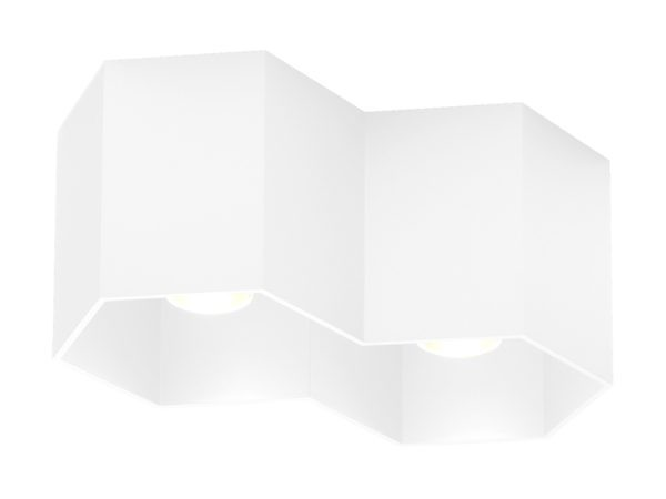 Hexo plafondlamp 2.0 wit