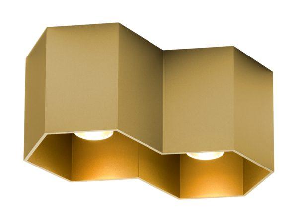 Hexo plafondlamp 2.0 goud