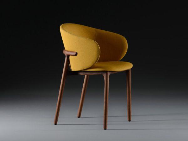 Artisan mela chair geel voorkant