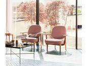 Fritz hansen fred fauteuil roze zitkamer