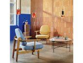 Fritz hansen fred fauteuil lichtblauw woonkamer