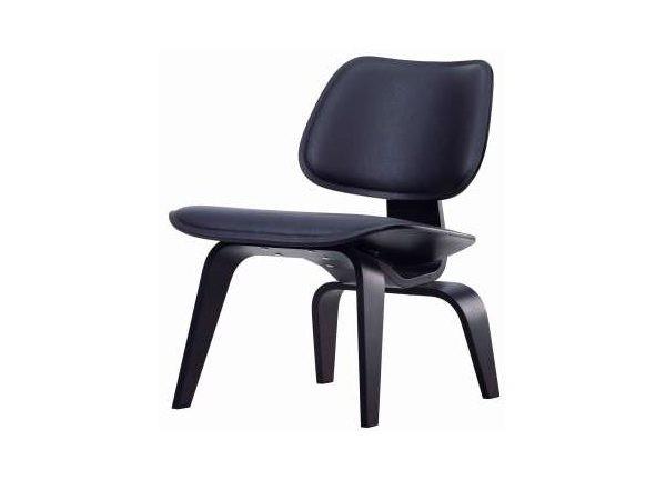 Vitra Plygroup stoel zwart leder