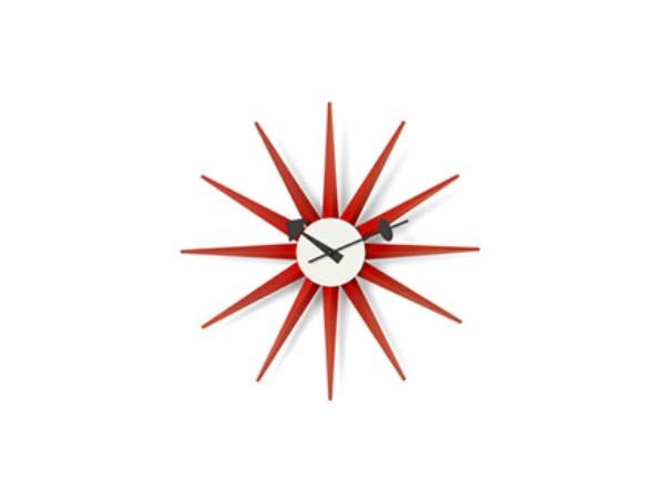 Vitra sunburst klok rood