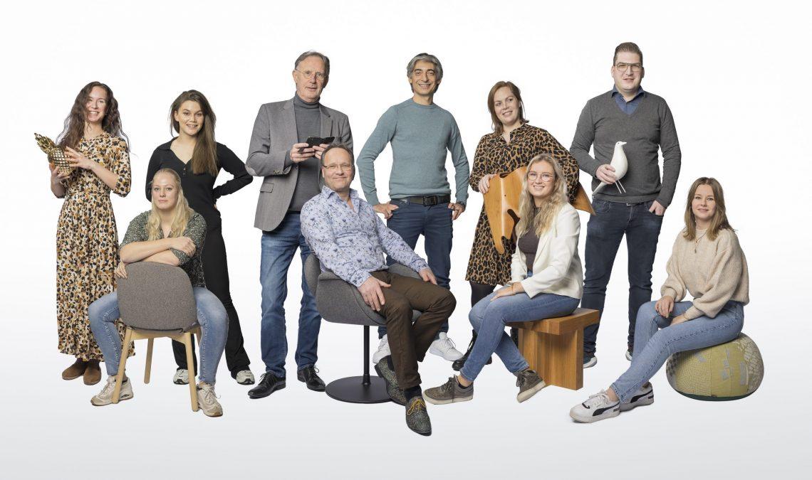Groepsfoto van onze interieurstylisten