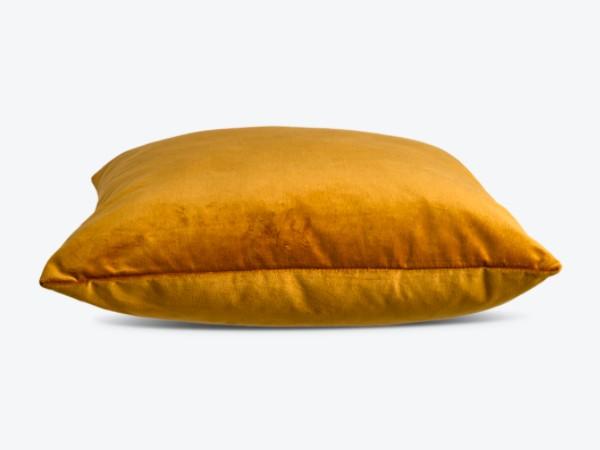 Pols Potten velvet cushion goudgeel productafbeelding