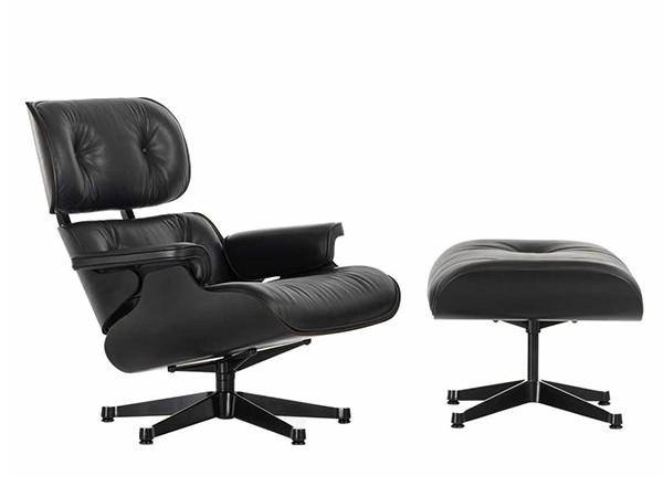 Lounge Chair Ottoman Black Edition