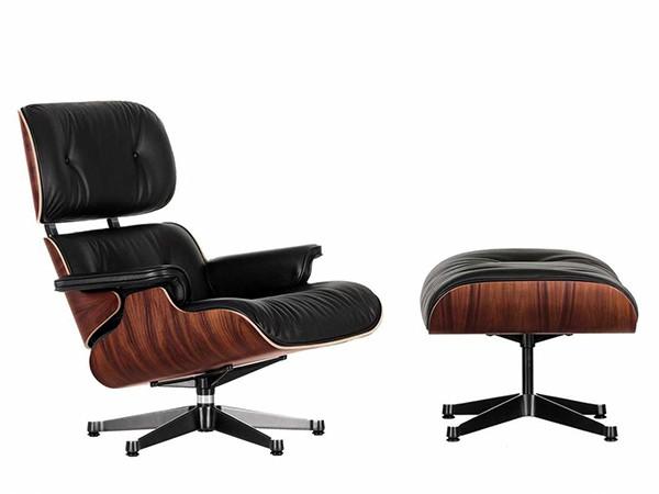 Lounge Chair Santos Palisander met Ottoman