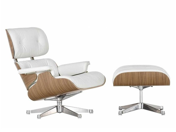 Lounge Chair White Edition met Ottoman