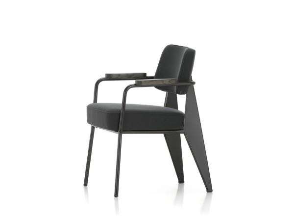 Vitra direction fauteuil grijs zwart zijkant