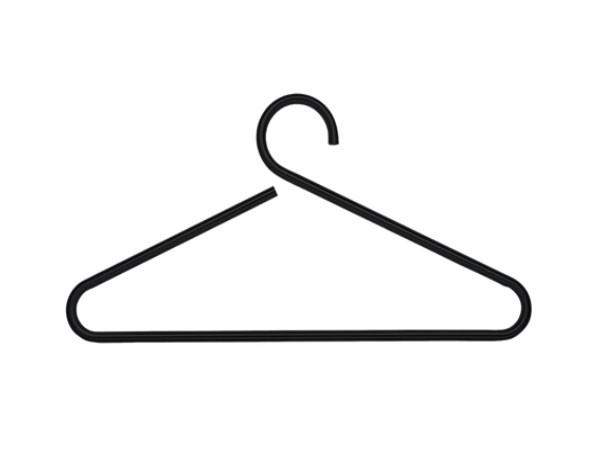 D-Tec Happy kledinghanger zwart
